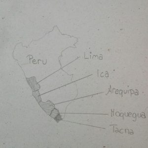Grape growing regions of Peru