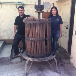 Diego and ... from Marques de Viña still working like in the old days. Great visit in Cochabamba
